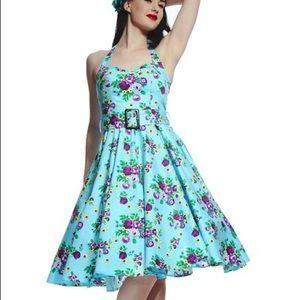 Modcloth Hellbunny Vixen Floral Dress